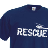 Baumwoll T-Shirt RESCUE mit Helicopter