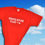 Baumwoll T-Shirt REMOVE BEFORE FLY